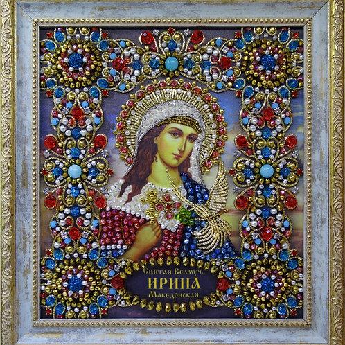 Набор для вышивания хрустальными камнями Святая Ирина Македонская
