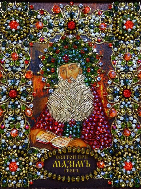 Ткань с нанесенной авторской схемой Святой Преподобный Максим Грек