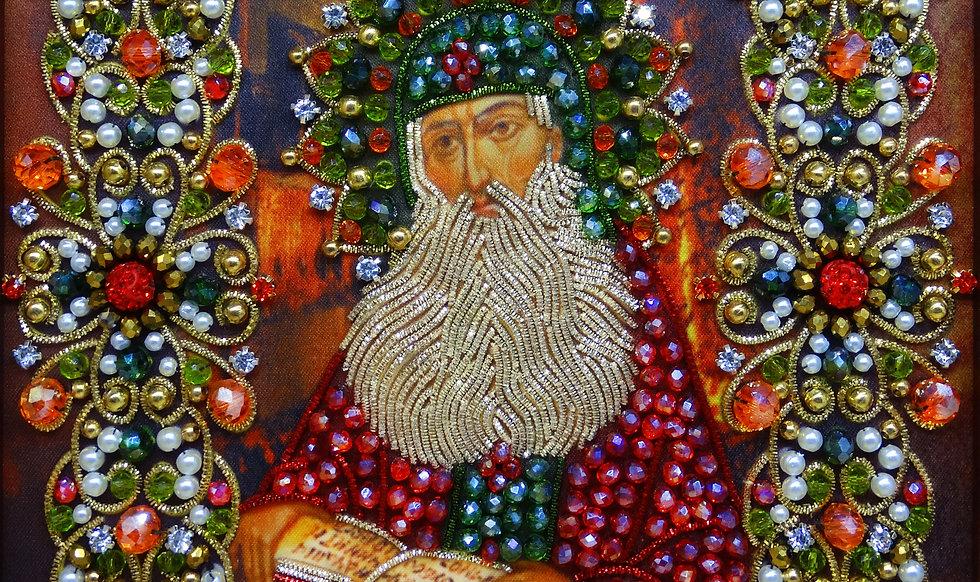 Набор для вышивания хрустальными камнями Святой преподобный Максим Грек