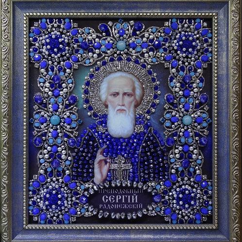 Набор для вышивания хрустальными камнями Святой Сергий Радонежский Чудотворец