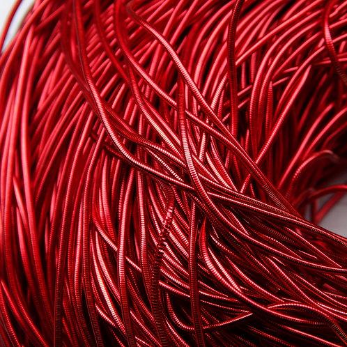 КА005НН1 Канитель гладкая, цвет: красный, размер: 1 мм, 5 грамм