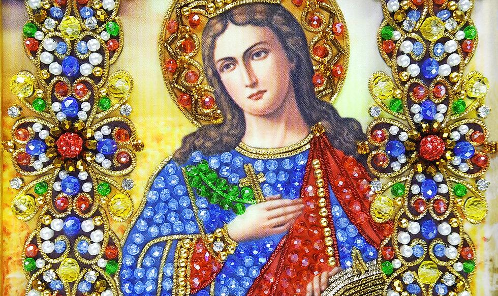 Набор для вышивания хрустальными камнями Святая Екатерина Великомученица