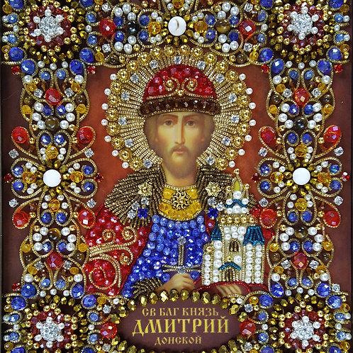 Набор для вышивания хрустальными камнями Святой Дмитрий Донской