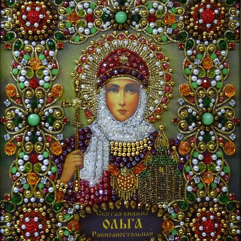 Ткань с нанесенной авторской схемой Святая княгиня Ольга Равноапостольная