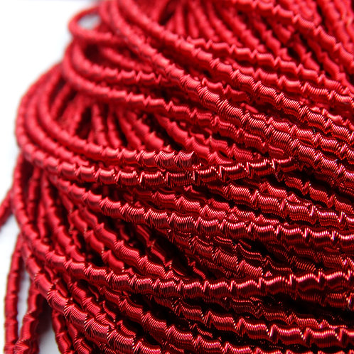 "ТБ008НН2 Трунцал фигурный ""бамбук"", цвет: красный, размер: 2 мм, 5 грамм"