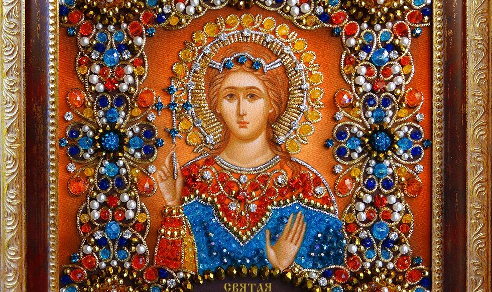 Набор для вышивания хрустальными камнями Святая мученица Надежда