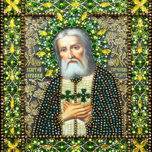 Набор для вышивания хрустальными камнями Образ Святого Серафима Саровского