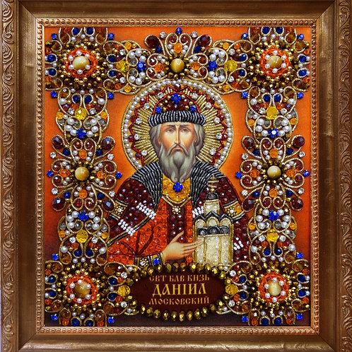 Ткань с нанесенной авторской схемой Святой Даниил Московский