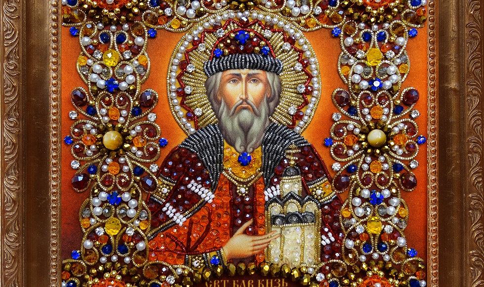 Набор для вышивания хрустальными камнями Святой Даниил Московский