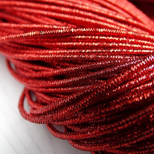 КЯ001НН1 Трунцал металлизированный, цвет: красный, размер: 1 мм, 5 грамм