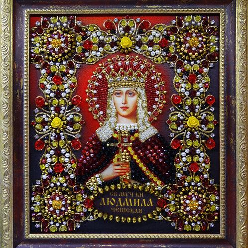 Набор для вышивания хрустальными камнями Святая Мученица княгиня Людмила Чешская