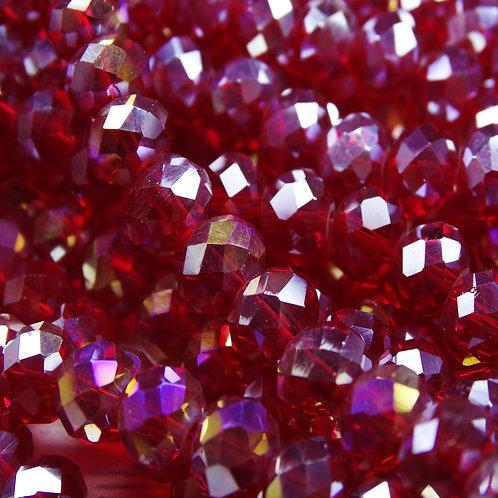 БП010ДС68 Хрустальные бусины, цвет: бордовый (с покрытием), размер: 6х8 мм.