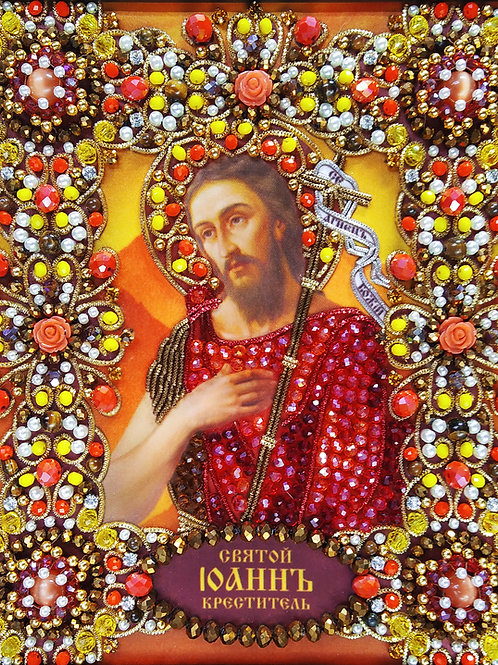 Ткань с нанесенной авторской схемой Святой Иоанн Креститель