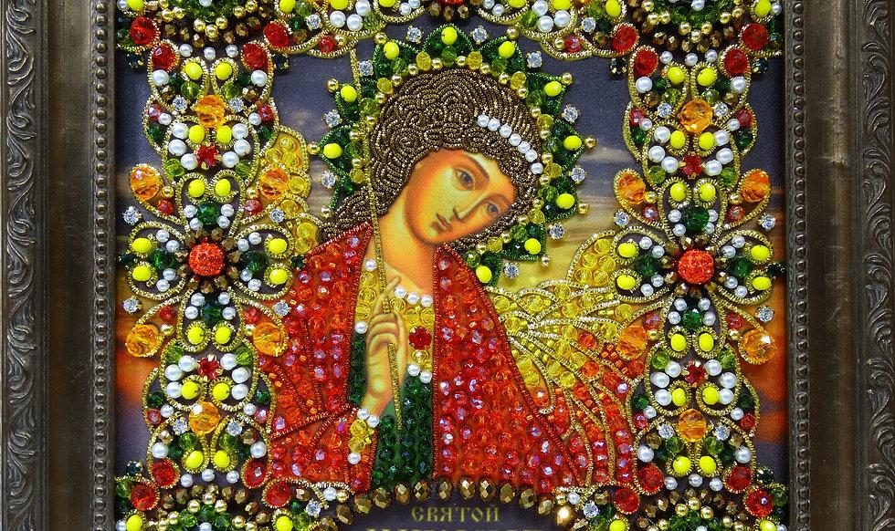 Набор для вышивания хрустальными камнями Святой Архангел Михаил