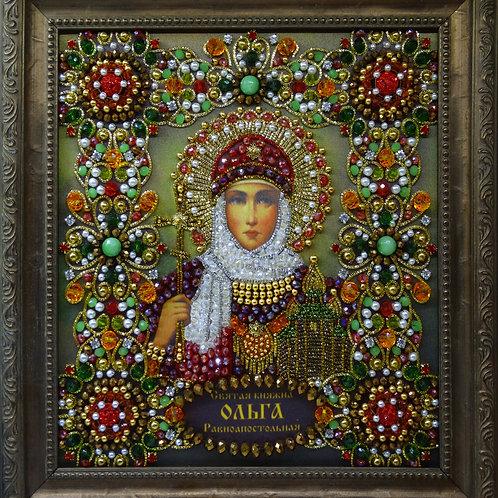 Набор для вышивания хрустальными камнями Святая княгиня Ольга Равноапостольная