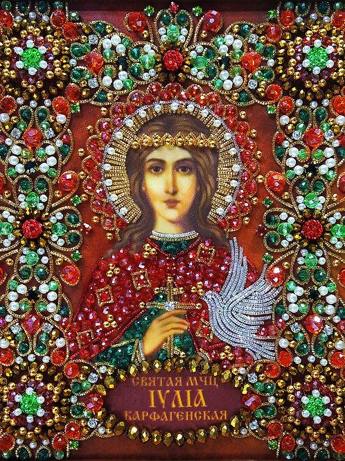 Набор для вышивания хрустальными камнями Святая Иулия Карфагенская