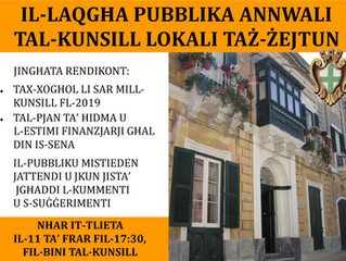 Il-Laqgħa Pubblika Annwali 2020