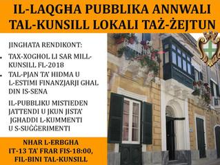 Il-Laqgħa Pubblika Annwali 2019