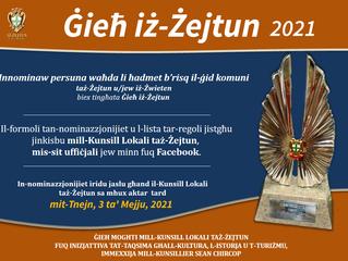 Jinfetħu s-sottomissjonijiet għal Ġieħ iż-Żejtun 2021