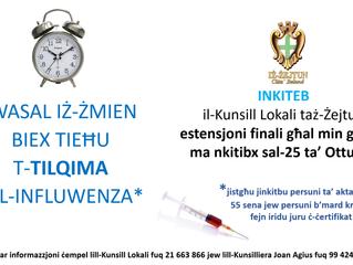 Estensjoni Finali: Tilqima tal-Influwenza