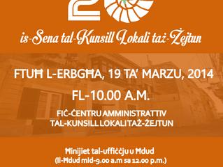 20 Sena Ħidma mill-Kunsill Lokali Tagħna