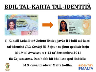 Bdil tal-Karta tal-Identità fiż-Żejtun