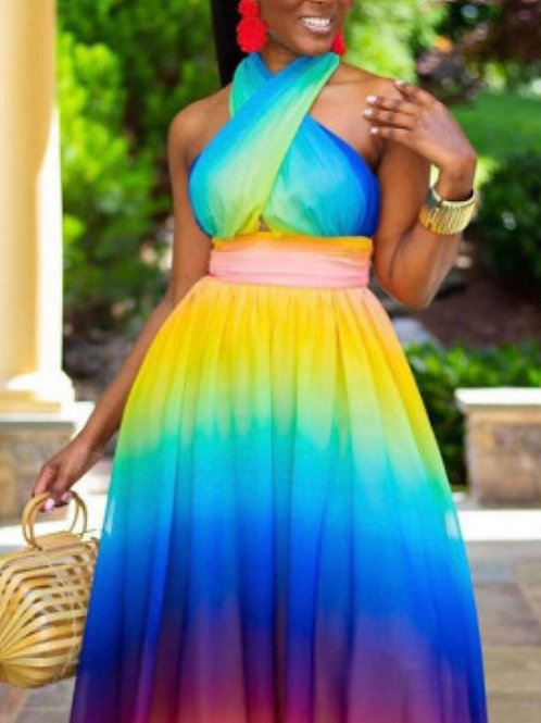 Beautiful Multi-Color  Summer Dress