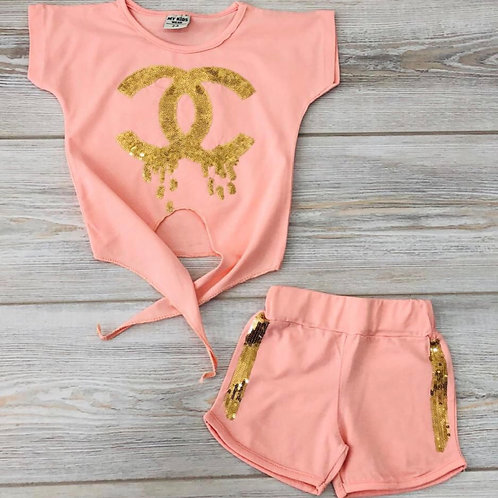 Two Piece Girls Drippin Sets