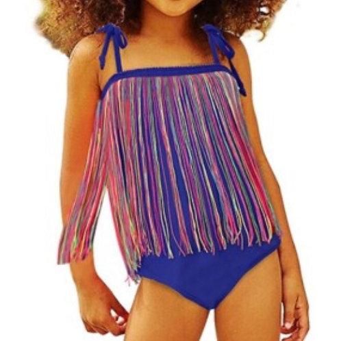 (Daughter) and Mom One Piece Straps Tassel Swimwear