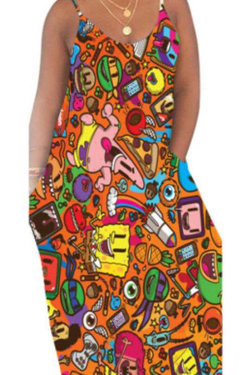 Cartoon Printed Dresses