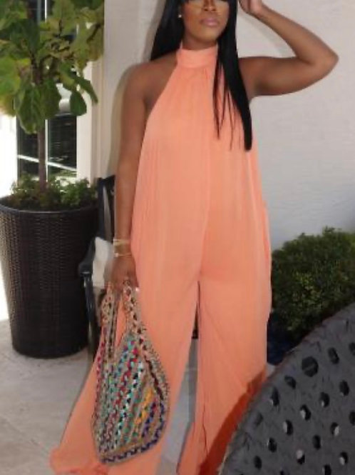 Casual Mesh Polyester Jumpsuits