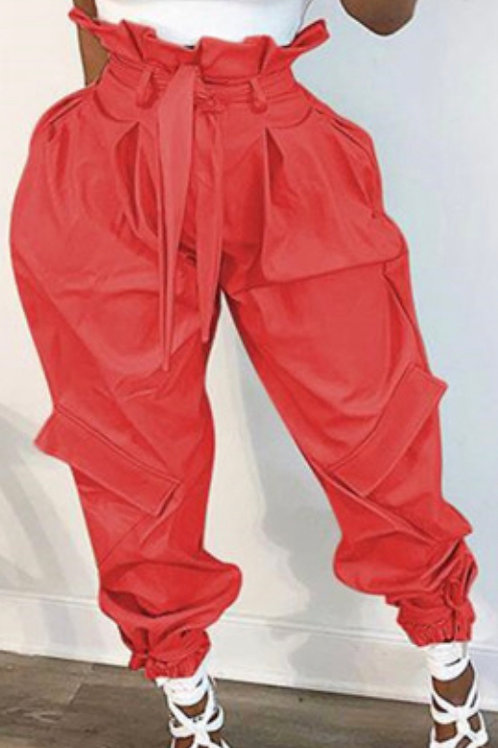High Waist Casual Style Trousers