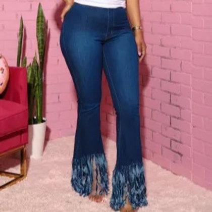 Deep Blue Boot Cut Denim Jeans
