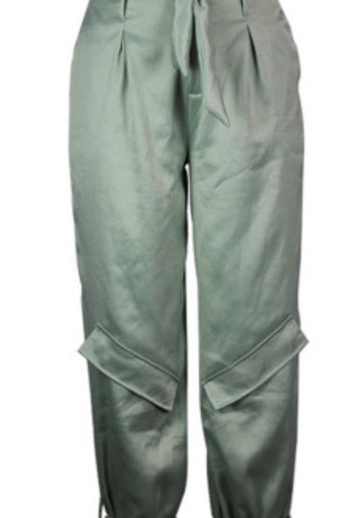 High Waist Light Green Trousers