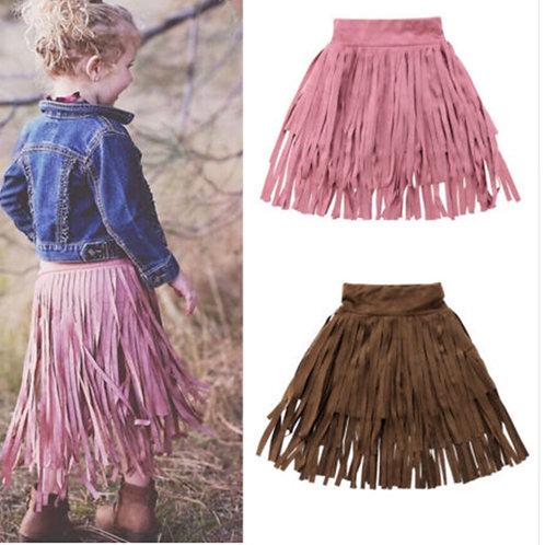 Toddler Girls Tassel Skirts