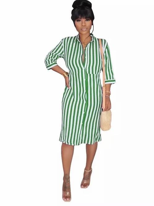 Striped Blouse Dresses