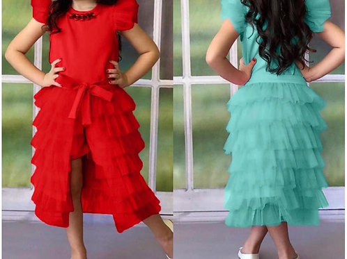 Girls Two Piece Tulli Set