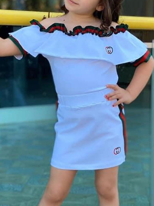 Girls Two Piece Skirt Sets