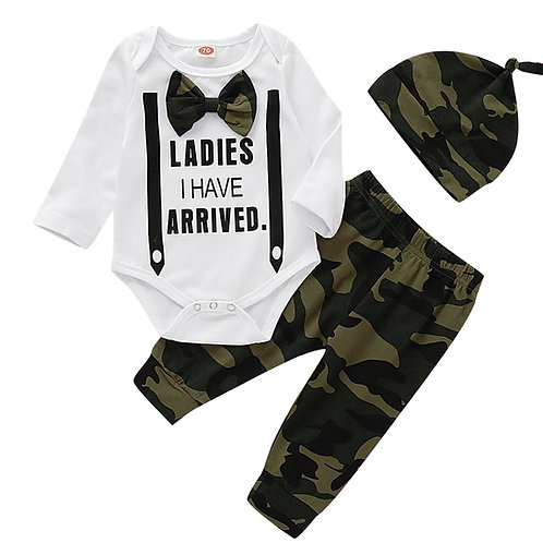 Baby Boy Camouflage Print Three Piece Suit