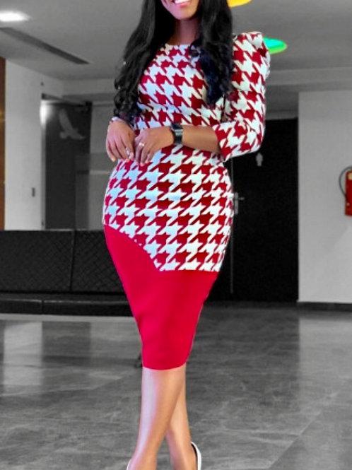 Printed Pattern Long Sleeve Dresses
