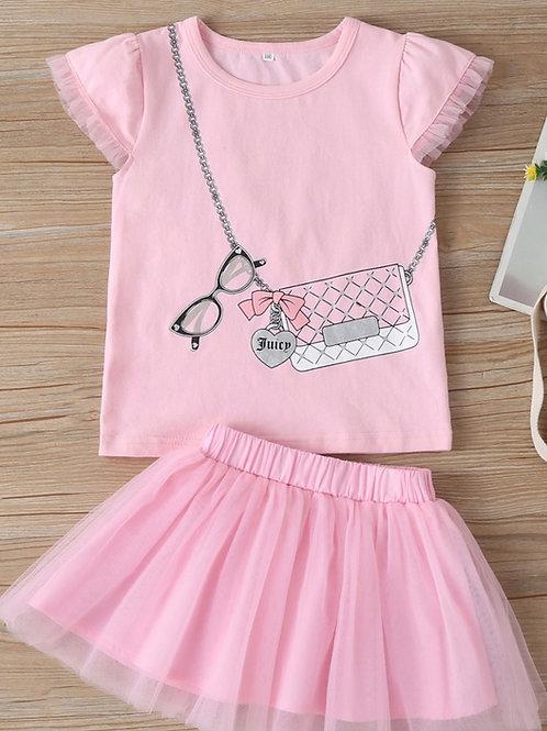 Girls Pink Tutu Set