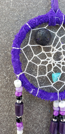 Small Dreamcatcher with 1 Lava Bead for Diffusing Oils