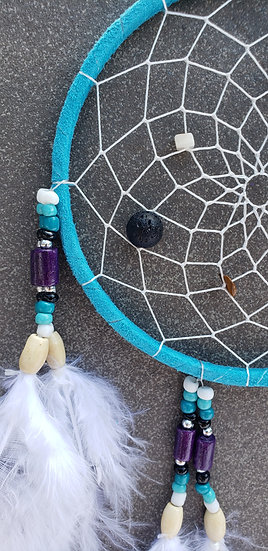 Large Dreamcatcher with 3 Lava Bead for Diffusing Oils