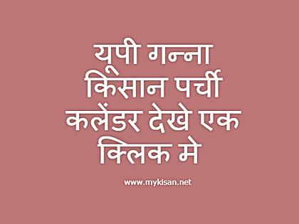 MyKisan:Kisaan.net se nahi www.caneup.in se dekhe up ganna kisan parchi calendar online