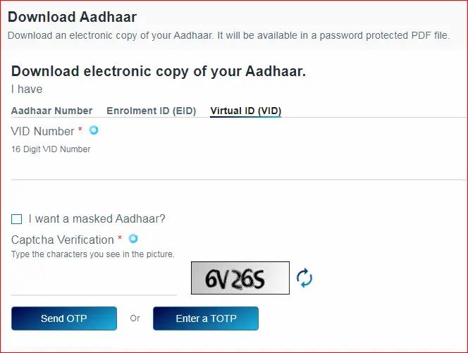 aadhar download virtual id
