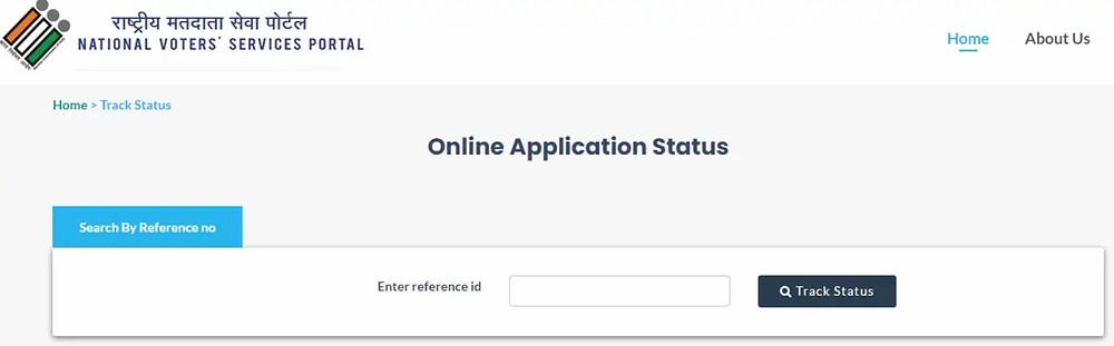 NVSP Portal Application Status