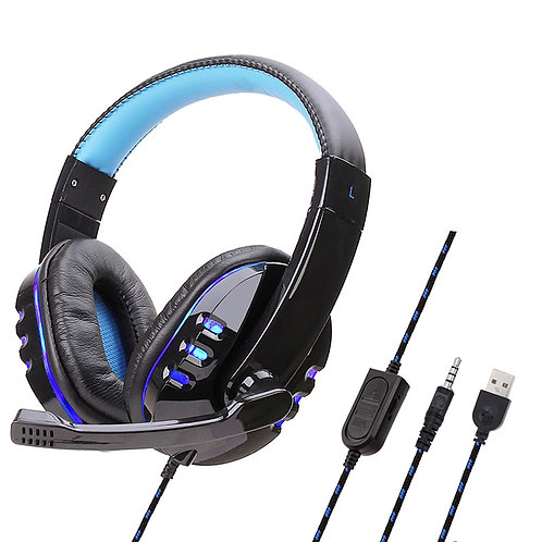 Gaming Headset Bass Stereo Wired Headphones With Mic Tablet PC Laptop Headset