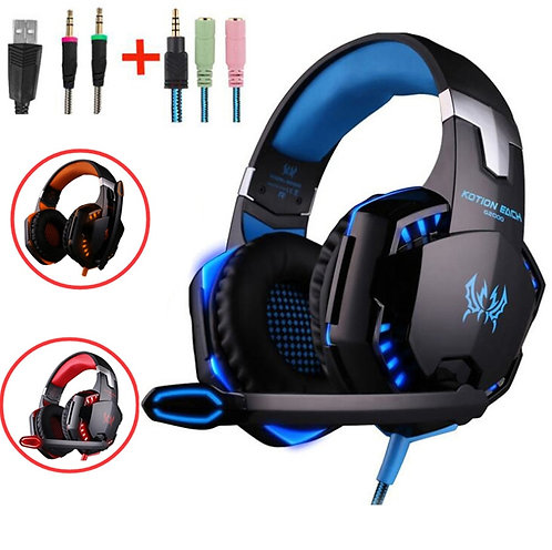 G2000 G9000 Gaming Headsets Big Headphones With Light Mic Stereo Earphones