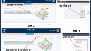 Apna Khata Rajasthan Jamabandi,E-Dharti Portal