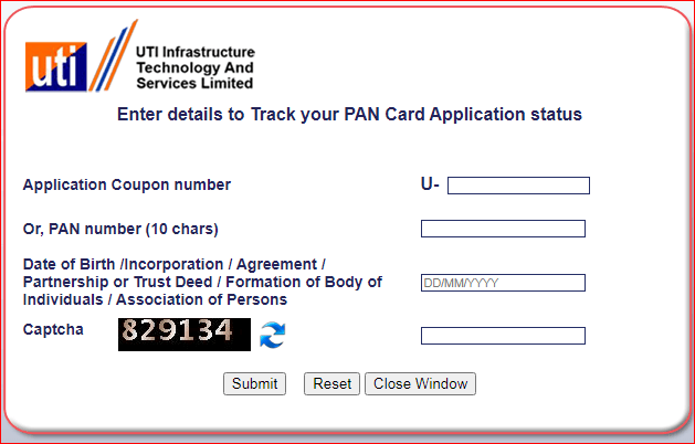 pan card status,uti pan card aaply online